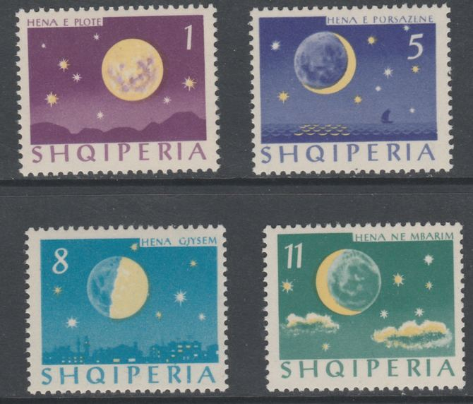 Albania 1964 Moon's Phases perf set of 4 unmounted mint, SG 828-31