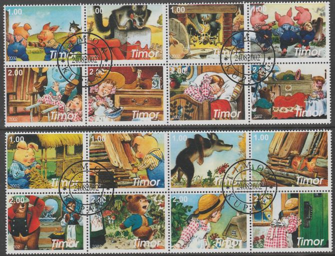 Timor (East) 2002 Fairy Tales #2 perf set of 16 fine cto used