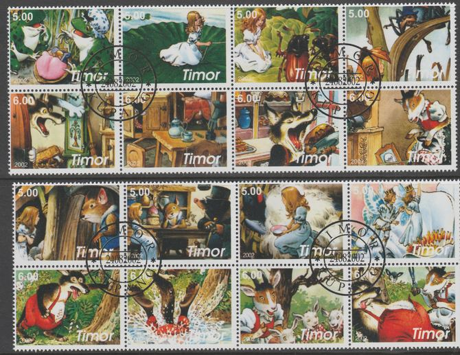 Timor (East) 2002 Fairy Tales #3 perf set of 16 fine cto used