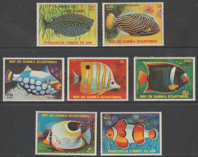 Equatorial Guinea 1979 Tropical Fish perf set of 7 unmounted mint  Mi 1469-75