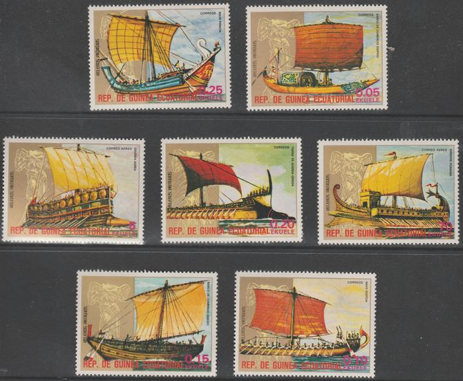 Equatorial Guinea 1978 Antique Ships perf set of 7 unmounted mint Mi 1279-1285