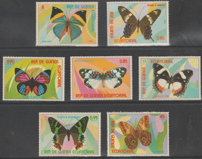 Equatorial Guinea 1976 Butterflies perf set of 7 unmounted mint Mi 1025-1031