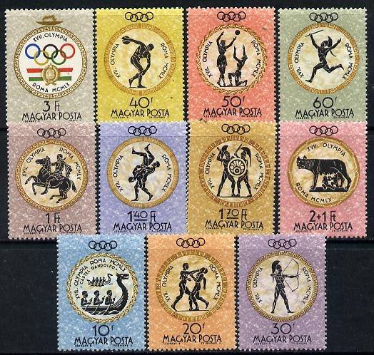 Hungary 1960 Rome Summer Olympic Games perf set of 11 unmounted mint, Mi 1686-96