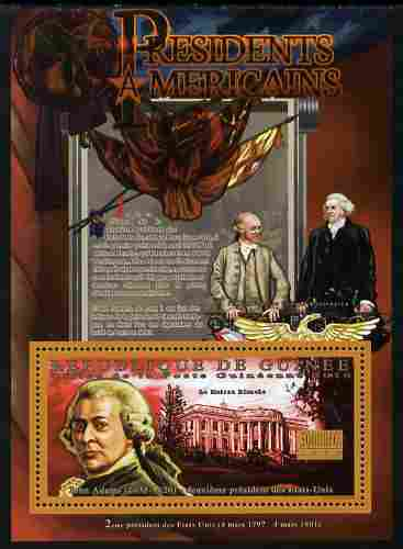 Guinea - Conakry 2010-11 Presidents of the USA #02 - John Adams perf s/sheet unmounted mint
