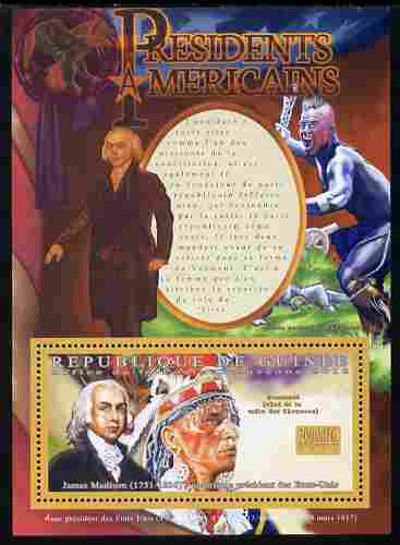 Guinea - Conakry 2010-11 Presidents of the USA #04 - James Madison perf s/sheet unmounted mint