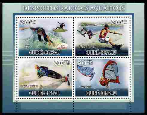Guinea - Bissau 2010 Extreme Water Sports perf sheetlet containing 4 values unmounted mint