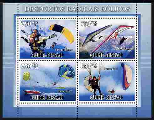 Guinea - Bissau 2010 Extreme Wind Sports perf sheetlet containing 4 values unmounted mint