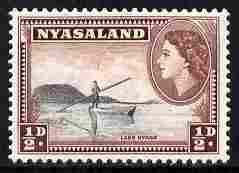 Nyasaland 1953-54 Lake Nyasa 1/2d P12 x 12.5 unmounted mint, SG 173a