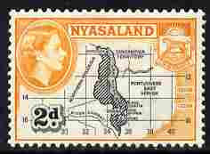 Nyasaland 1953-54 Map 2d P12 unmounted mint, SG 176