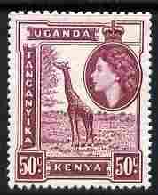 Kenya, Uganda & Tanganyika 1954-59 Giraffe 50c unmounted mint SG 173