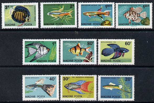 Hungary 1962 Ornamental Fish perf set of 10 unmounted mint, SG 1796-1805, Mi 1820-29