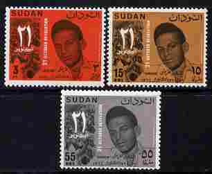 Sudan 1965 First Anniversary of October Revolution perf set of 3 unmounted mint SG 245-47
