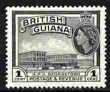 British Guiana 1954-63 GPO Georgetwon 1c Script CA unmounted mint SG 331