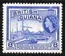 British Guiana 1954-63 Sugar Cane Entering Factory 8c Script CA unmounted mint SG 337