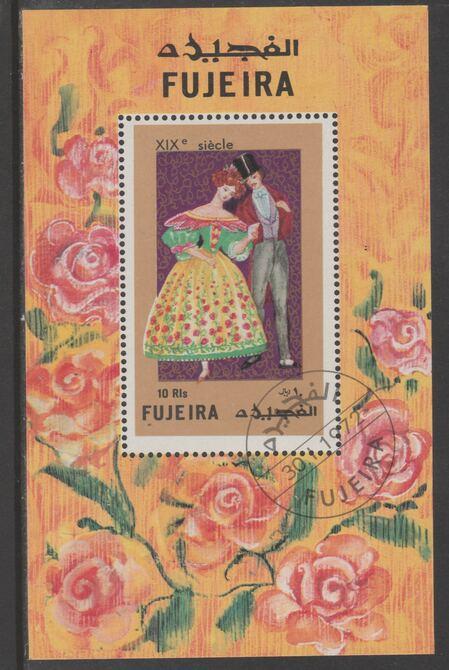 Fujeira 1972 19th Century Costumes 10r perf m/sheet fine cto used Mi Block 95A
