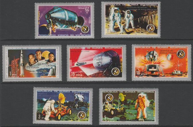Equatorial Guinea 1972 Apollo 15 perf set of 7 values unmounted mint Mi 18-24