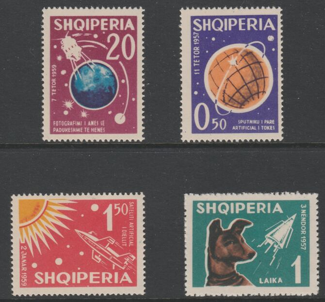 Albania 1962 Cosmic Flights perf set of 4 unmounted mint, SG 708-11