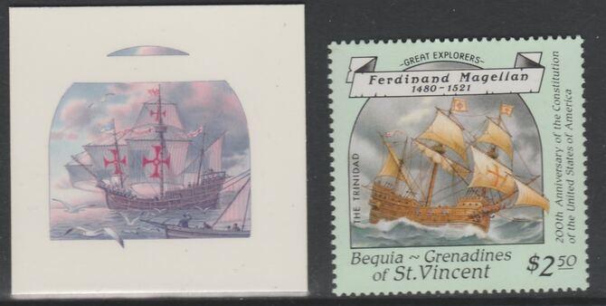 St Vincent - Bequia 1988 Explorers $2.50 Ferdinand Magellan
