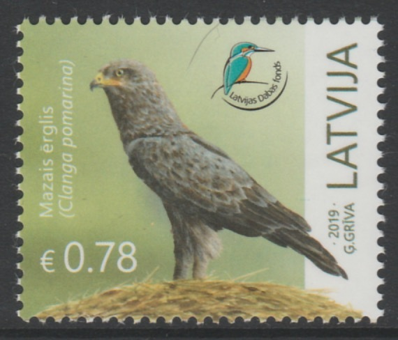 Latvia 2019 Lesser Spotted Eagle unmounted mint, stamps on birds, stamps on birds of prey, stamps on eagles