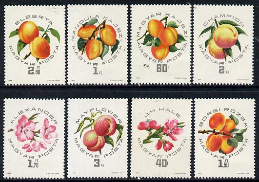 Hungary 1964 Peaches & Apricots perf set of 8 unmounted mint, Mi 2044-51*