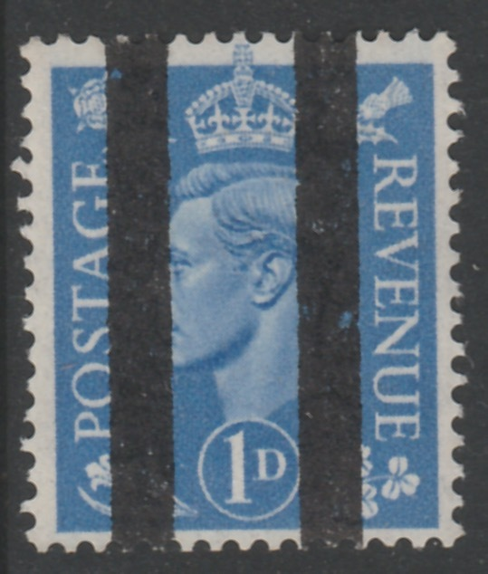 Great Britain 1950-52 KG6 1d light ultramarine overprinted with Post Office Training School Bars, as SG 504