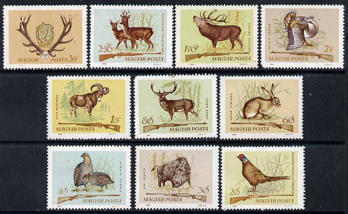 Hungary 1964 Hunting perf set of 10, SG 2034-43, Mi 2079-88