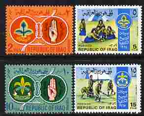 Iraq 1967 Iraqi Scouts & Guides perf set of 4 unmounted mint, SG 787-90