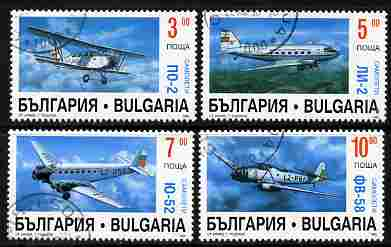Bulgaria 1995 Aircraft complete set of 4 fine cto used, SG 4031-34*