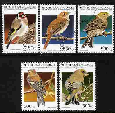 Guinea - Conakry 1995 Birds perf set of 5 fine cto used SG 1629-33