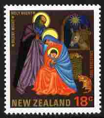 New Zealand 1985 Christmas 18c with the error of spelling (CRISTMAS) unmounted mint, see note after SG 1378