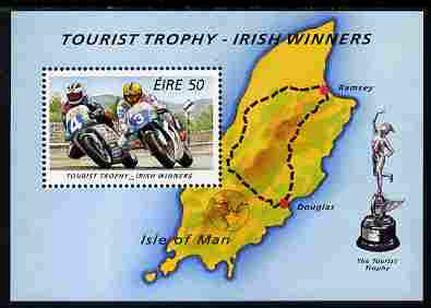Ireland 1996 Isle of Man Tourist Trophy Motorcycle  Races perf m/sheet unmounted mint SG MS 1008