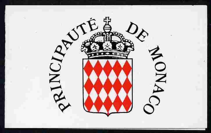 Booklet - Monaco 1989 Old Monaco (Rue ds Spelugues) 20f booklet complete and very fine, SG SB3