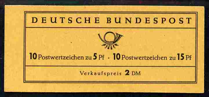 Booklet - Germany - West 1965 Magnus & Tegel Castle 2m booklet complete and pristine, SG SB59