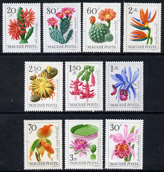 Hungary 1965 Cacti & Orchids perf set of 10 unmounted mint, SG 2117-26