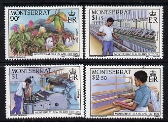 Montserrat 1985 Sea Island Cotton set of 4 unmounted mint, SG 645-8