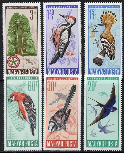 Hungary 1966 Protection of Birds perf set of 6 unmounted mint, SG 2184-89, Mi 2231-36