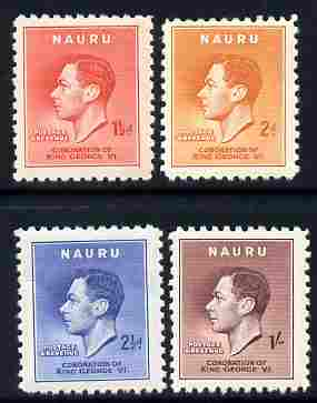 Nauru 1937 KG6 Coronation set of 4 unmounted mint SG 443-47