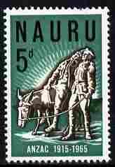 Nauru 1965 50th Anniversary of Gallipoli Landing 5d unmounted mint SG 65