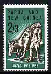 Papua New Guinea 1965 50th Anniversary of Gallipoli Landing 2s3d unmounted mint SG 76