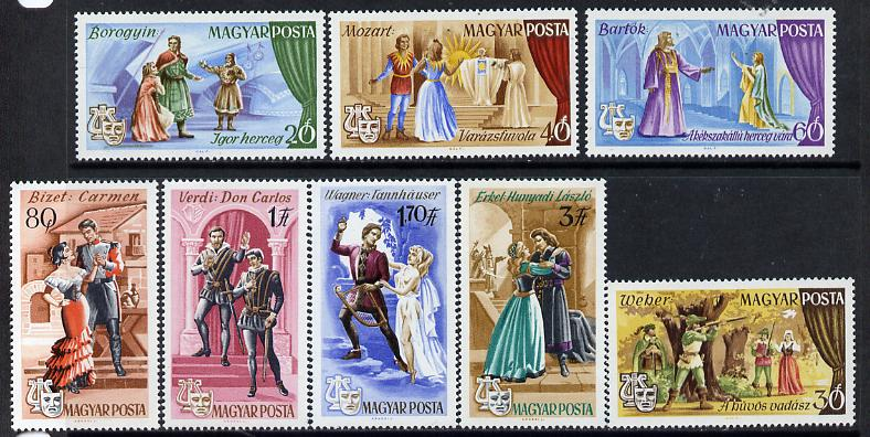 Hungary 1967 Popular Operas perf set of 8 unmounted mint, Mi 2355-62