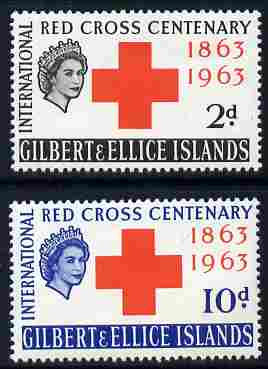 Gilbert & Ellice Islands 1963 Red Cross Centenary set of 2 unmounted mint, SG 80-81