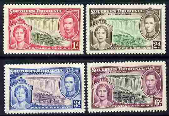 Southern Rhodesia 1937 KG6 Coronation perf set of 4 unmounted mint, SG 36-39