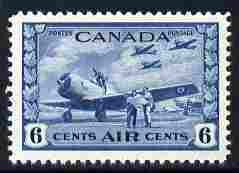Canada 1942-48 KG6 War Effort 6c blue unmounted mint SG 399