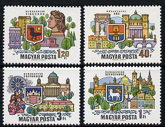 Hungary 1969 Danube Towns perf set of 4, Mi 2514-17 unmounted mint