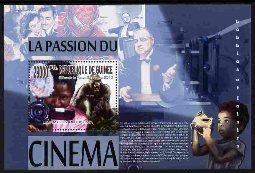 Guinea - Conakry 2010 The Passion for the Cinema perf m/sheet unmounted mint