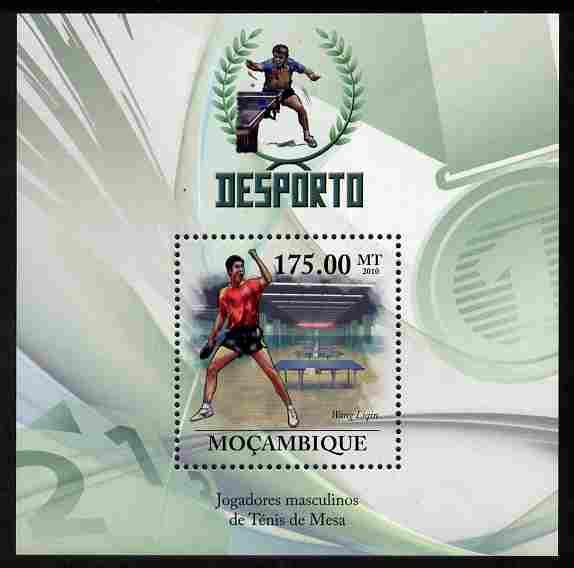 Mozambique 2010 Sport - Table Tennis - Men perf m/sheet unmounted mint