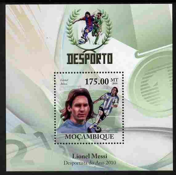 Mozambique 2010 Sport - Football perf m/sheet unmounted mint