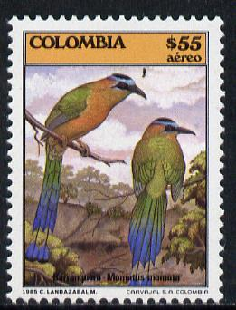 Colombia 1985 Mot-Mot 55p (from Fauna set) unmounted mint SG 1727