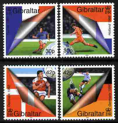 Gibraltar 2000 Football European Championship perf set of 4 unmounted mint SG 907-10