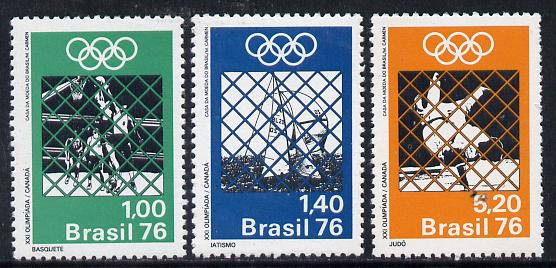 Brazil 1976 Montreal Olympic Games set of 3, SG 1586-88*